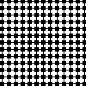 Squares And Crosses Black On White 1:1