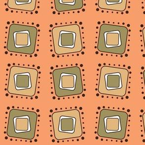 Retro Squares Tilt-Orange