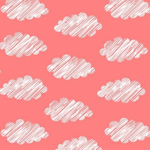 Clouds Coral White