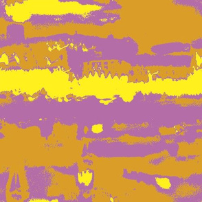 YellowOrangePink Abstract Landscape