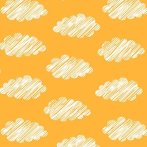 Clouds Yellow White