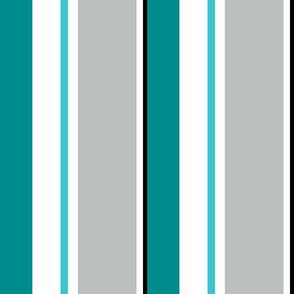 cre8tvdeb Vertical Teal & Gray Stripe