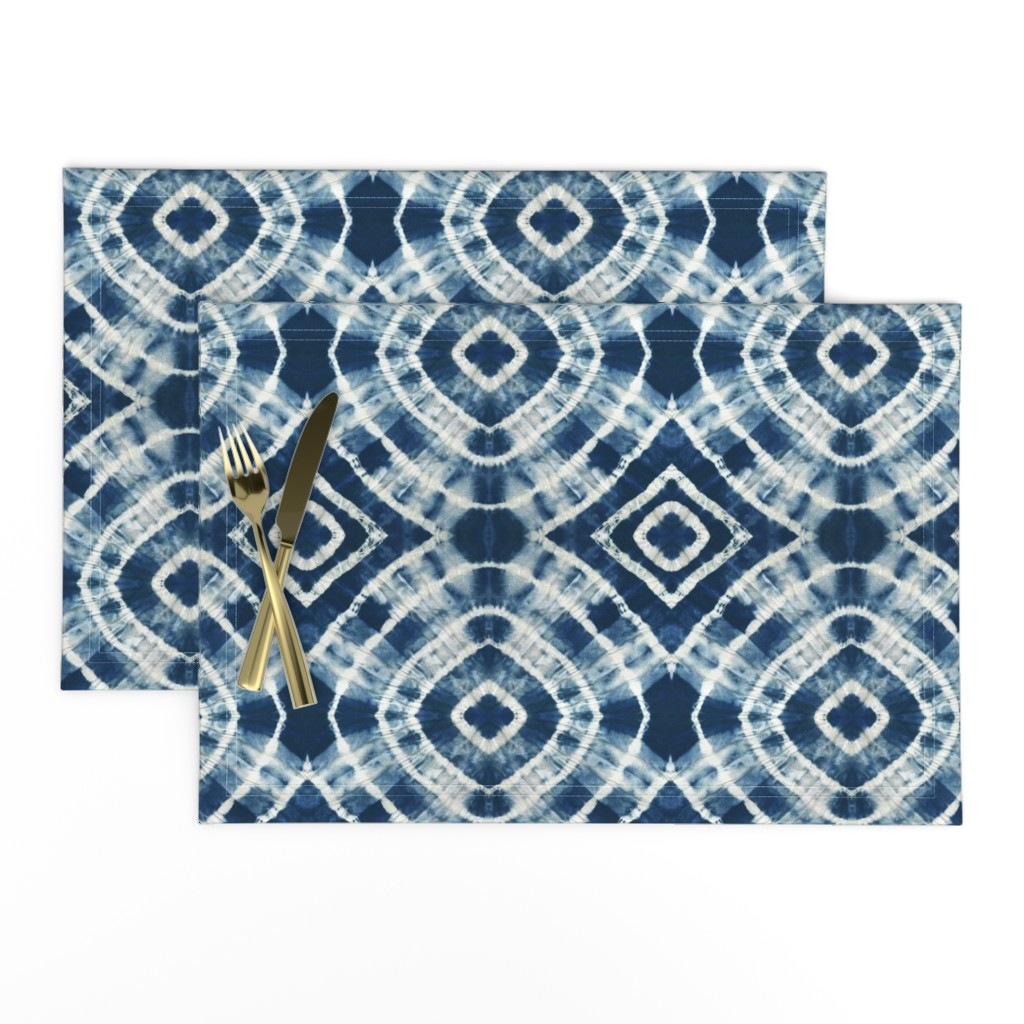 Lamona Cloth Placemats featuring Shibori - indigo by jenuine_designs
