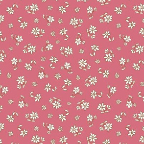 Pink hand drawn flowers pattern