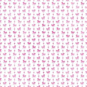 Micro Carousel Stripes Pattern Pink Watercolor on White