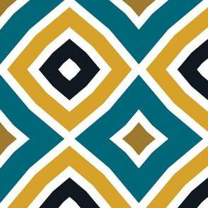 The Gold the Black and the Teal - Imperfect Diamonds