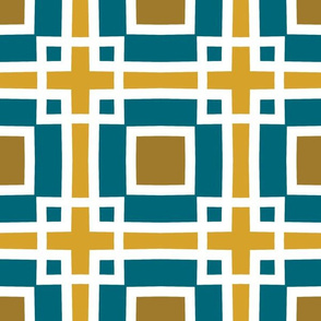 The Gold the Black and the Teal - Square Upon Square
