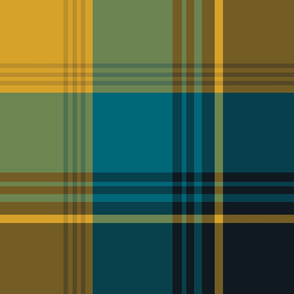 The Gold the Black and the Teal: Giant Plaid