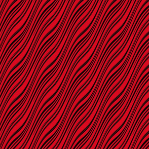 Fine Zebra Cat -- black and red