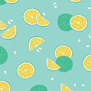 Green lime citrus fruit pattern