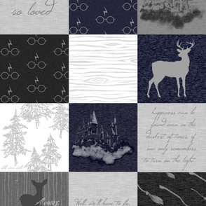 Always Quilt - Navy, Black, And grey