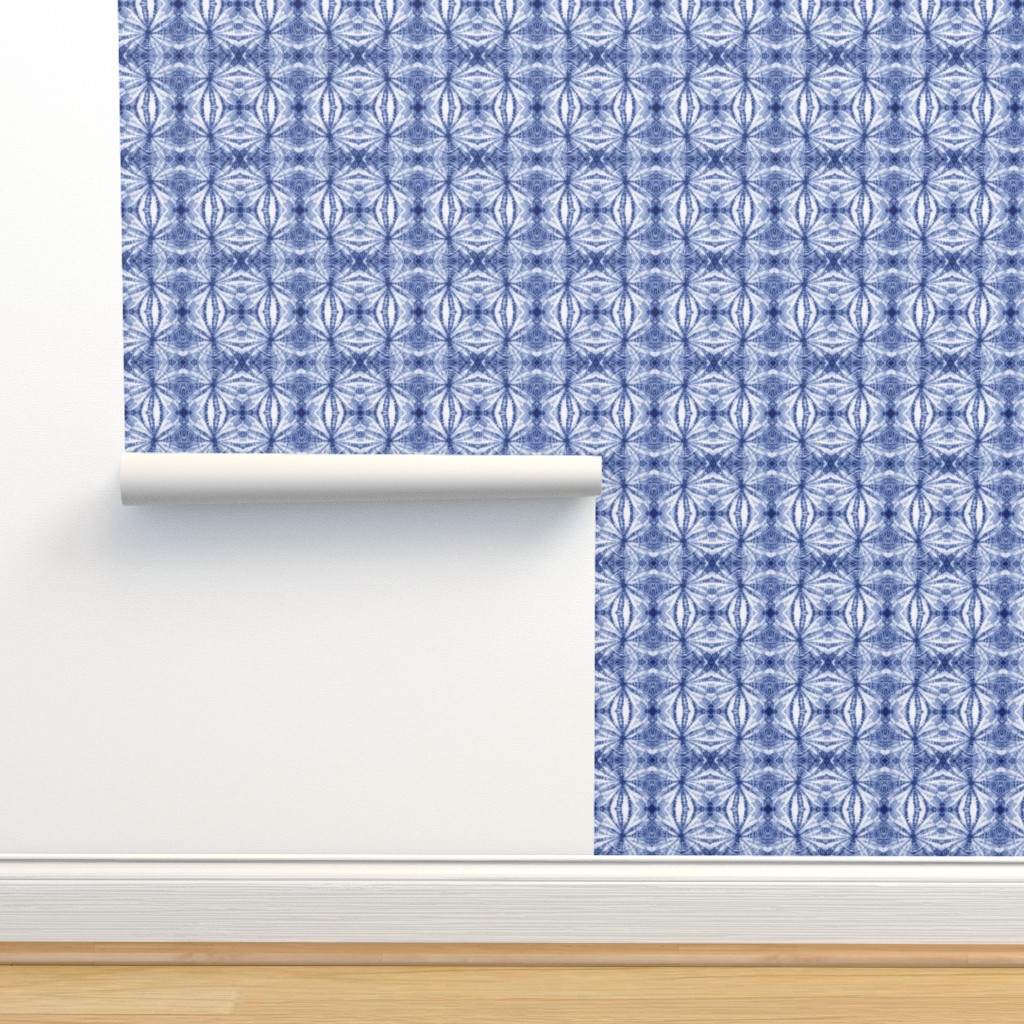 Isobar Durable Wallpaper featuring Shibori Stars sm by mypetalpress