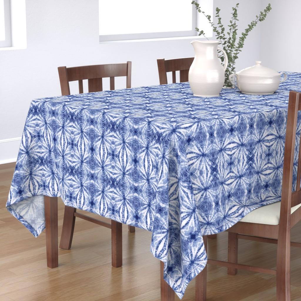 Bantam Rectangular Tablecloth featuring Shibori Stars sm by mypetalpress