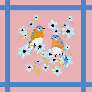bluebirds and flowerslatticenewpinksf