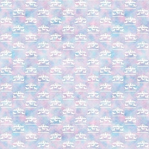Micro Carousel Pattern in Cotton Candy Watercolor