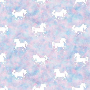 Unicorn Pattern in Cotton Candy Watercolor