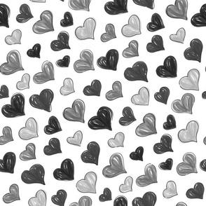 Graphic Marker Hearts- Random Custom Black 45º