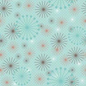Kitchen Blooms Aqua
