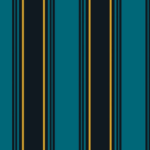 The Gold the Black and the Teal - Another Stripe - Vertical