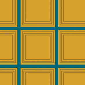 The Gold the Black and the Teal: Squares