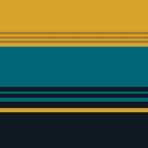 The Gold the Black and the Teal - Giant Stripes - Horizontal