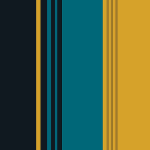 The Gold the Black and the Teal - Giant Stripes - Vertical