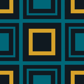 The Gold the Black and the Teal - MultiSquares