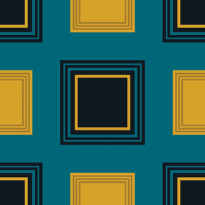 The Gold the Black and the Teal - MultiSquares Number 2