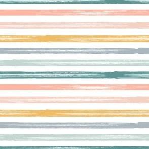 Summer Stripes - Starfish Coordinate Stripes - LAD19