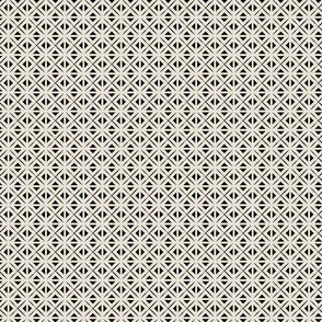 Boho Tile in Black and Cream