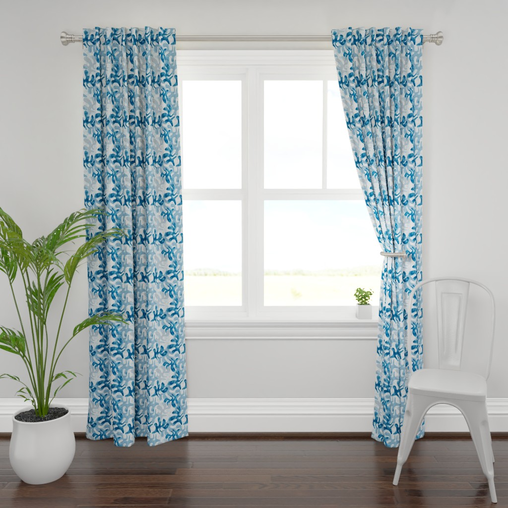 Plymouth Curtain Panel featuring Indigo Fest by mirimo_design