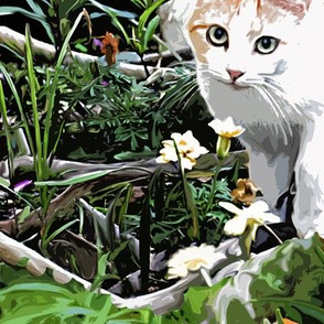 Garden Cat Paint by Numbers
