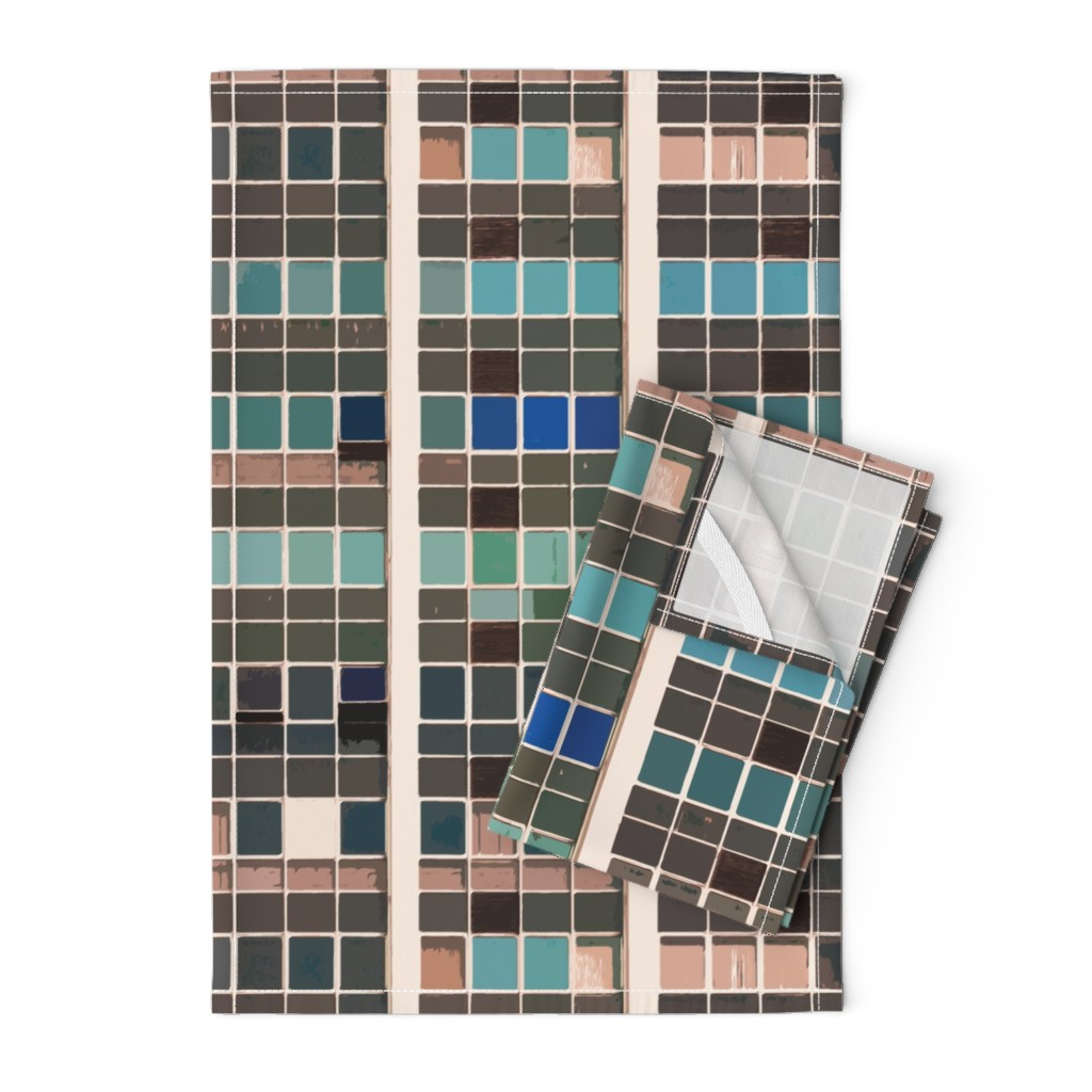 Orpington Tea Towels featuring terra urban vista by whatever-works