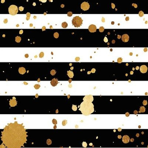 Stripes & Splatter - Gold - Rotated