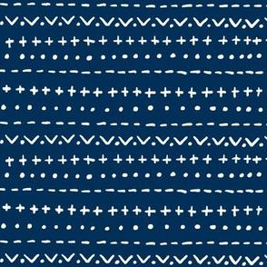 Hand Stripe-indigo