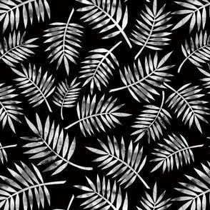 Monochrome Palm - Black BKG
