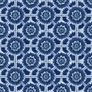 Shibori Kaleidoscopic  Abstract Design