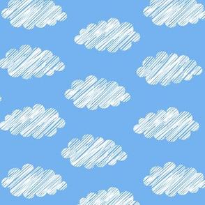 Clouds Blue White
