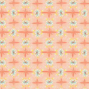 happy geometrics apricot
