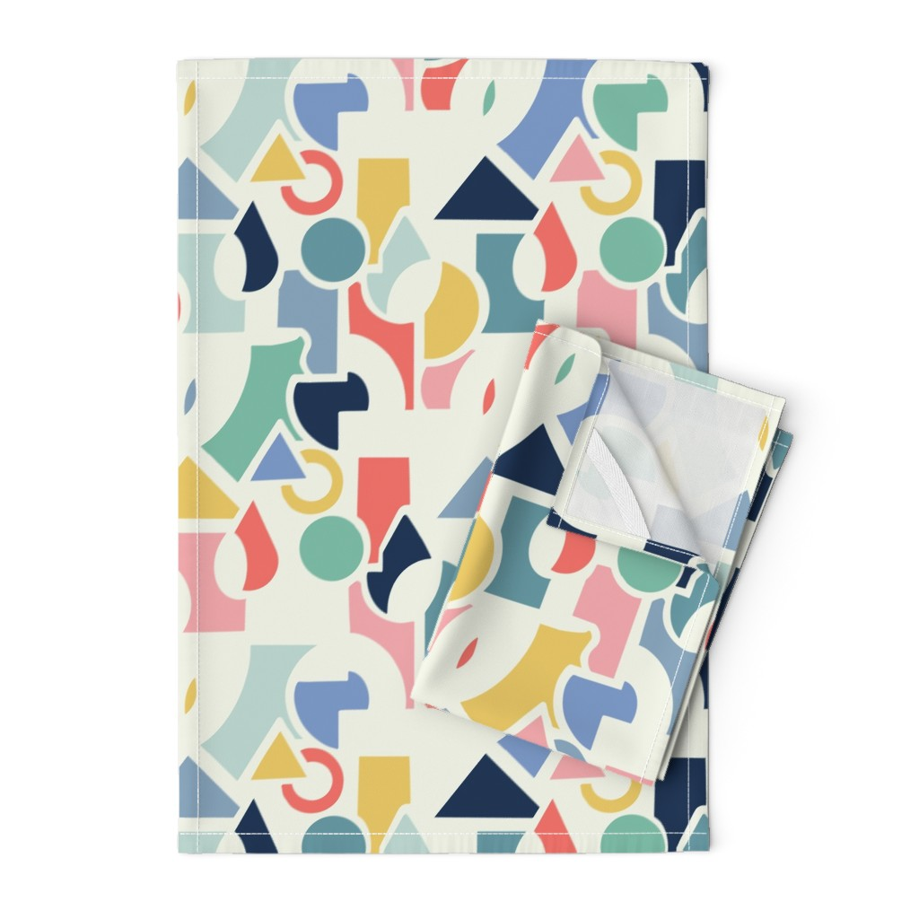 Orpington Tea Towels featuring Bright abstract by gemmacosgroveball