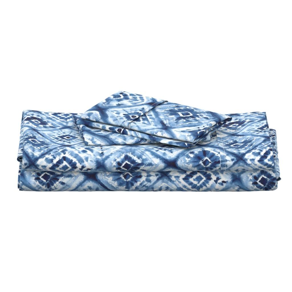 Langshan Full Bed Set featuring shibori diamand by sveta_aho