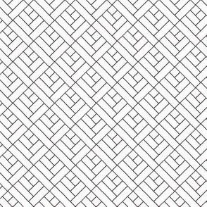 Simple Herringbone // black on white