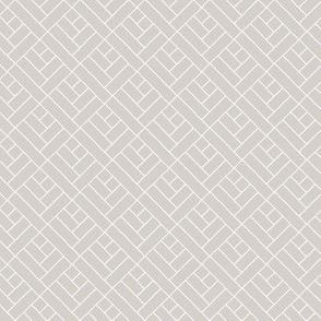 Simple Herringbone // white on grey