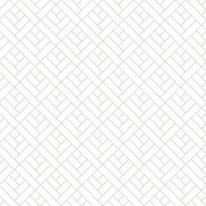 Simple Herringbone // grey on white