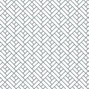 Simple Herringbone // navy on white