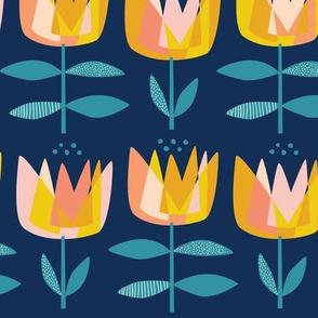 Prism Tulips  Navy