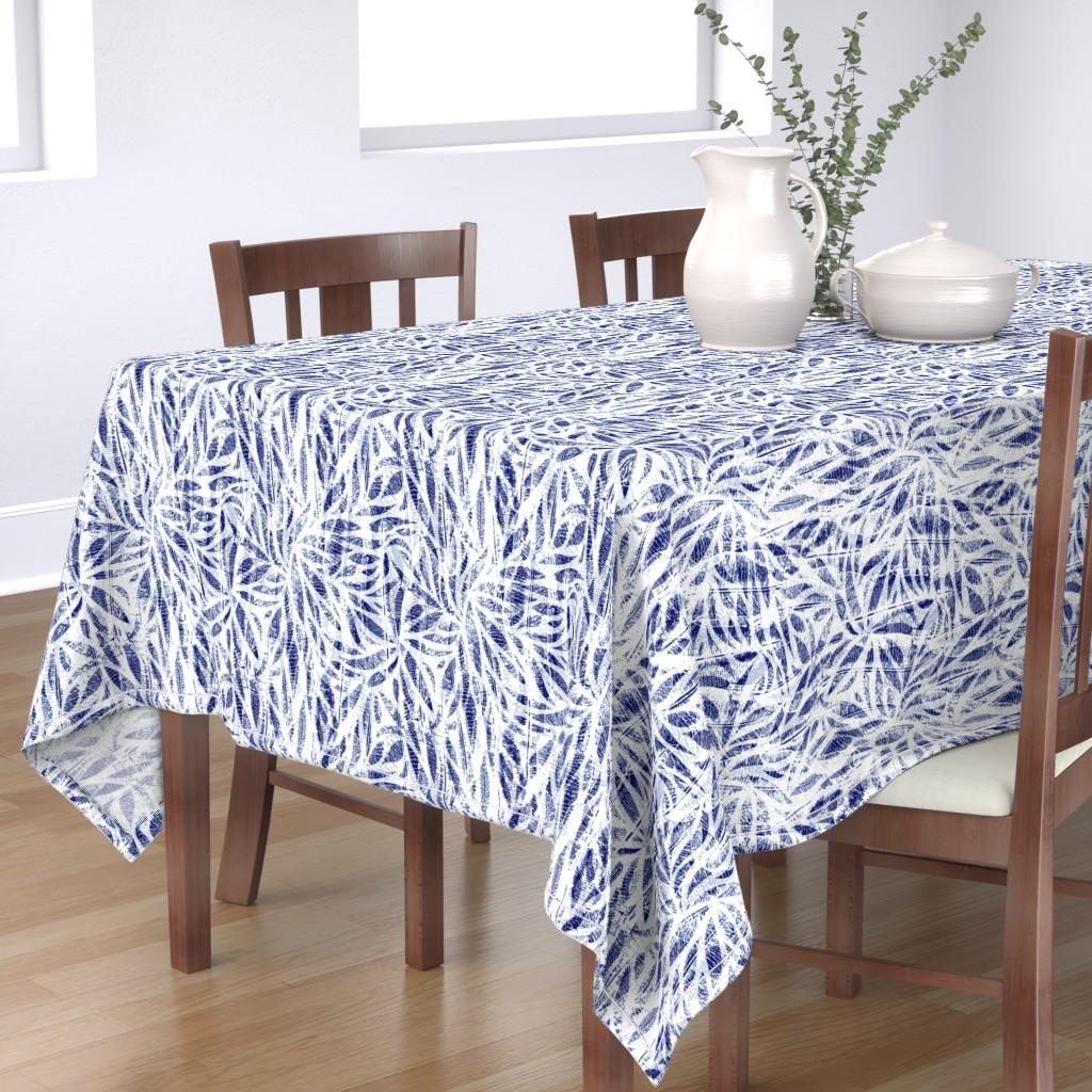 Bantam Rectangular Tablecloth featuring Bamboo Shibori by evamatise