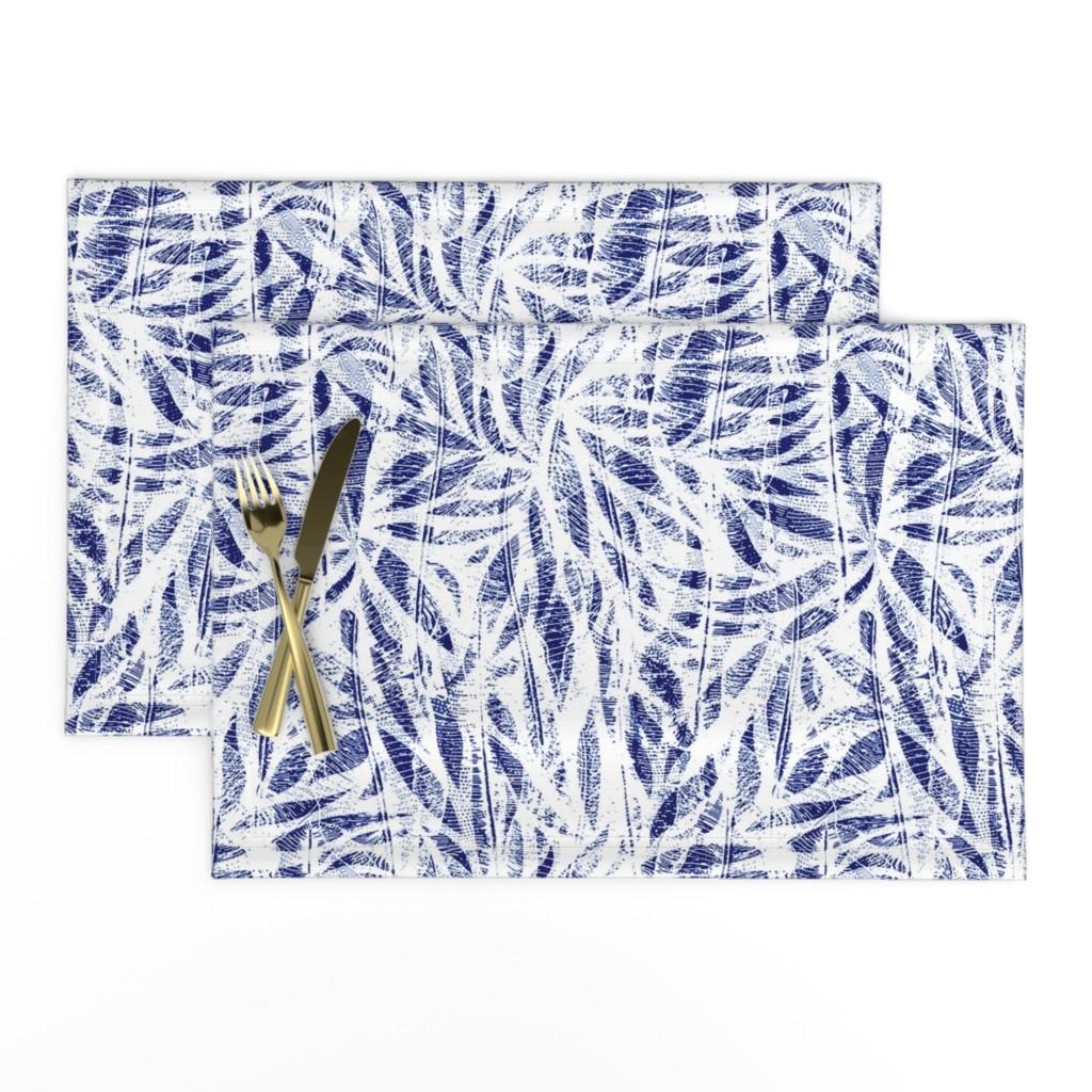 Lamona Cloth Placemats featuring Bamboo Shibori by evamatise