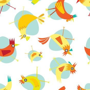 Colorful Chickens in Circles