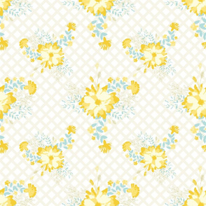 Yellow Blue Flower Bouquete
